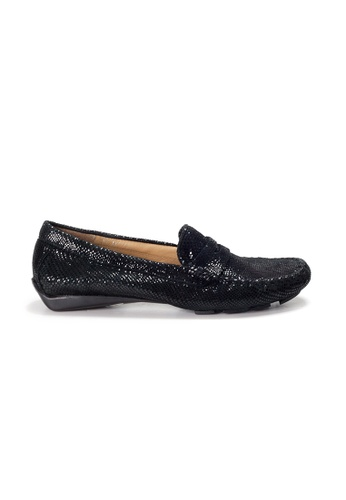 Shu Talk black AMAZTEP Slip On Printed Leather Driving Loafer Shoes 36E80SHC2D485DGS_1