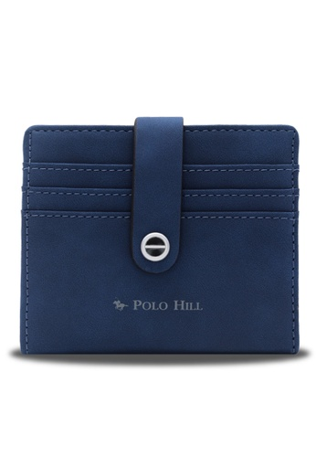Polo Hill blue Polo Hill Ladies Slim & Sleek Bifold Card Wallet 2E653ACE1E74B5GS_1