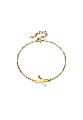 Bullion Gold gold BULLION GOLD Bold Alphabet Letter Initial Charm Bracelet in Gold Tone - X 1FFA3AC9427269GS_1