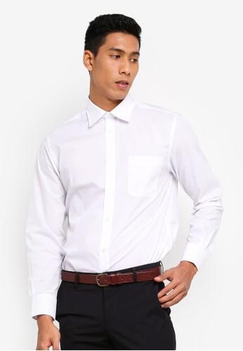 OVS white Long Sleeves Basic Shirt 86987AAE5E1687GS_1