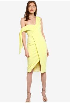 0b4cac96fcf Lavish Alice Tie Sleeve Detail Wrap Midi Dress With Fold RM 419.00. Sizes 6  8 10 12 14