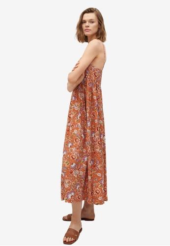 Mango orange Ruffles Flowy Dress 570AEAA0BB5DE3GS_1