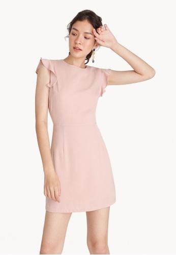 Pomelo pink Mini Ruffle Cap Sleeve Dress - Baby Pink BBFA4AAFE93092GS_1