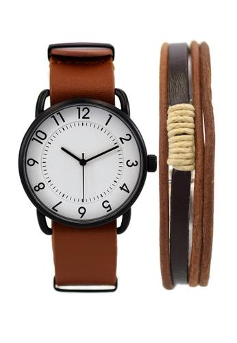 LEUPP brown Imako Watch And Bracelet Pack 1E1EDAC4E76BF8GS_1