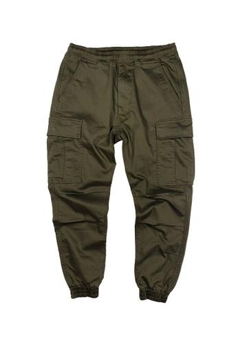 L.I.M.I.T.E green Men's Cargo Pants 84E31AA0EFE700GS_1