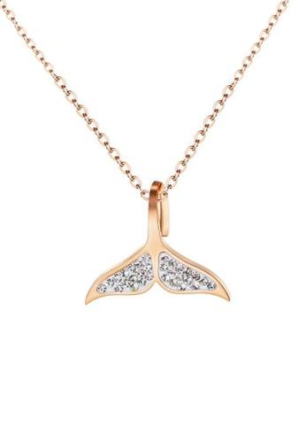 CELOVIS gold CELOVIS - Marin Mermaid Zirconia Necklace in Rose Gold B6DD0AC010D694GS_1