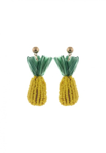 Style Cat yellow Style Cat Bahamas Pineapple Earrings 9E6CBAC3652A53GS_1