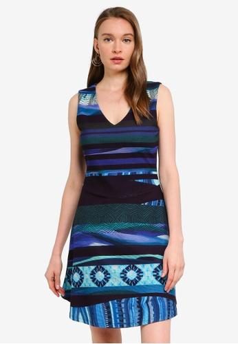 Desigual blue Duna Short Dress D53B1AA00CF63EGS_1