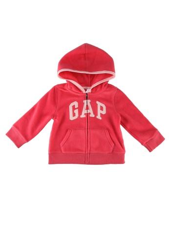 GAP pink Logo Hoodie BA162KAD48BBE2GS_1