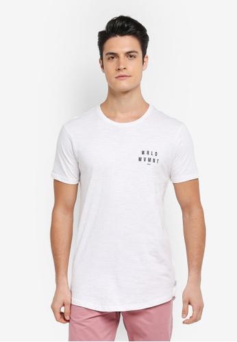 Cotton On white Longline Scoop Hem Tee 74C2CAA75B7EF7GS_1