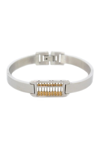 Elfi silver Elfi Stainless Steel Unique Real Working Abacus Bracelet Bangle 02 4E40DACEC1B23EGS_1