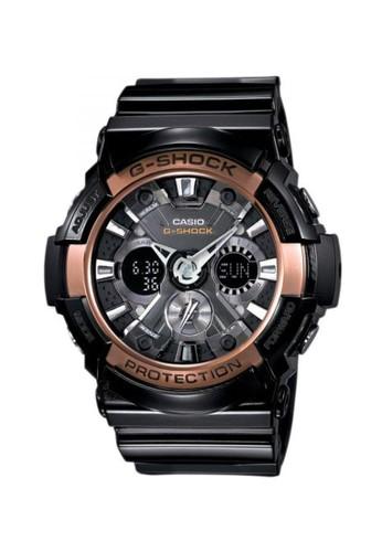 Casio black Casio G-SHOCK Jam Tangan Pria - Black Gold - Resin - GA-200RG-1ADR CA347AC11GYEID_1