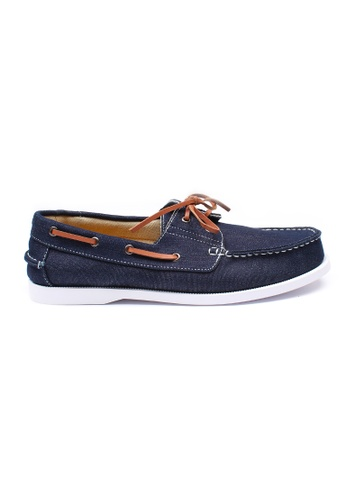 Moley navy Authentic Canvas Boat Shoe MO329SH74NHXSG_1