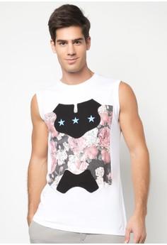 Men's Printed Muscle Shirt