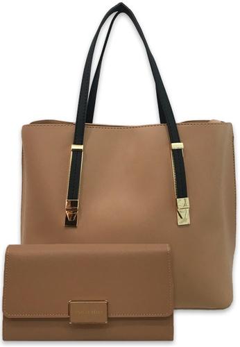 Polo Hill brown Polo Hill Zip Shopper Bag 61E70ACDE8A8DCGS_1