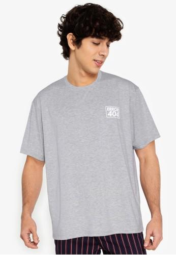 ZALORA BASICS grey Error 404 T-Shirt FCF08AA28FD93FGS_1