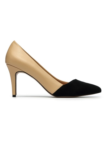 Byford black and multi and beige Berkley Suede Pointed Toe Heels 27F20SHF444106GS_1