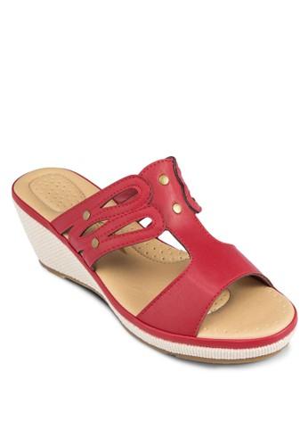 Berly 鏤空寬帶楔形涼鞋, 女鞋zalora 台灣門市, 鞋