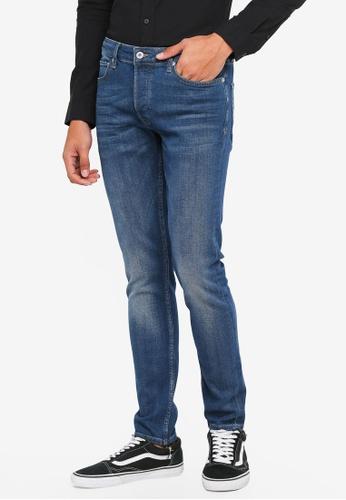 Topman blue Blue Wash Stretch Skinny Jeans B2A85AA5E3B813GS_1