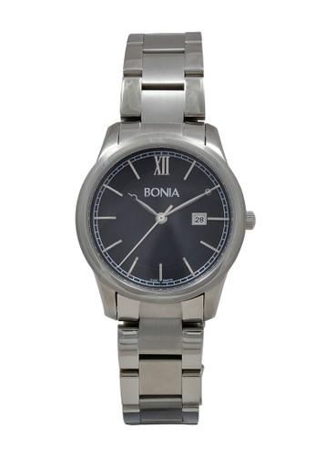 Bonia silver Bonia Jam Tangan Wanita - Silver Black - Stainless Steel - B836-2333 8292DAC7A8E08BGS_1
