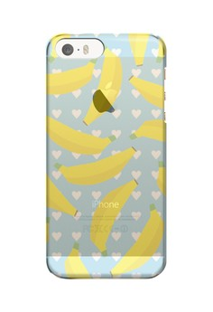 Banana Transparent Hard Case for iPhone 5, 5s