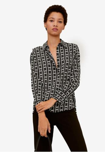 Mango black Flowy Shirt 139F1AA262A7E2GS_1