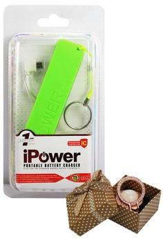 iPOWER Mini Powerbank 2600mAh With FREE 2016 Mobile Rotating Holder Ring