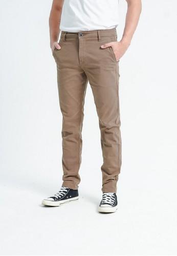 3SECOND brown Men Chinos Pants 140920 8152CAA9CAA12BGS_1