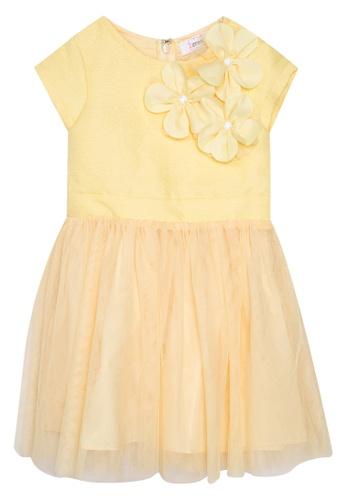 Great Kids yellow Sleeveless Drop Down Frill Dress DAE4FKAD0BD3F9GS_1