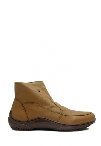 D-Island brown D-Island Shoes Zipper Slip On High Quality Genuine Leather Soft Brown DI594SH51EXWID_1