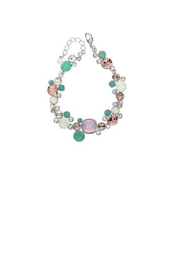 Glamorousky silver Colorful crystal bracelet 713CAAC63D4A58GS_1