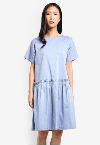 WEEKEND SUNDRIES blue Dropwaist Tee Dress WE453AA0FXUGSG_1