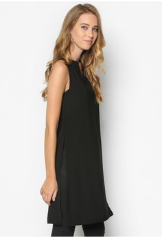 Collection Longline Tunic Top With Slits