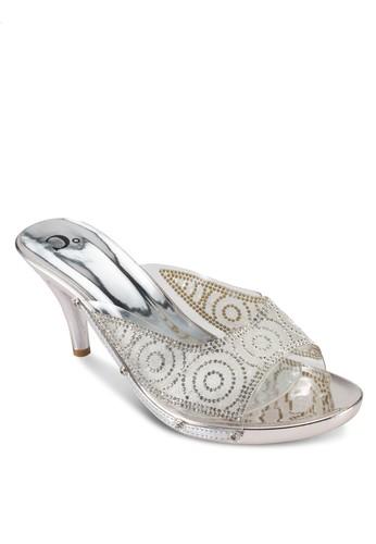 閃鑽esprit門市地址露趾派對高跟鞋, 女鞋, 厚底高跟鞋
