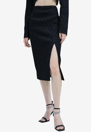 URBAN REVIVO black Casual Skirt 5F377AA69EA47CGS_1
