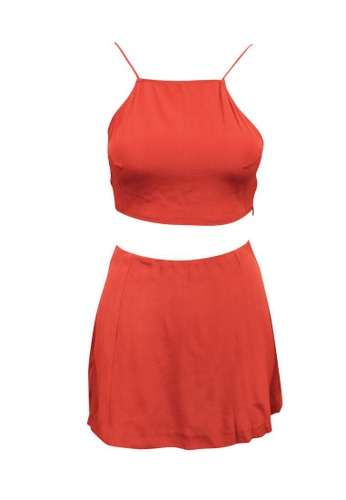 Reformation red reformation Red Skirt and Top Set FD40EAAFBFE448GS_1