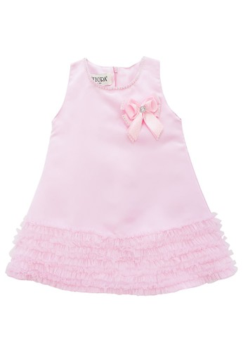 FIYORA pink Livia Party Baby Girl Dress A8086KA7044B20GS_1