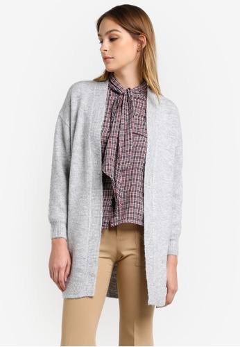 Mango grey Chunky Knit Wool-Blend Cardigan MA193AA0RUZYMY_1