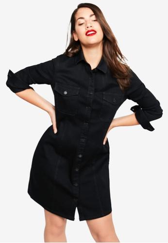 Shop Violeta by MANGO Plus Size Denim Shirt Dress Online on ZALORA ...