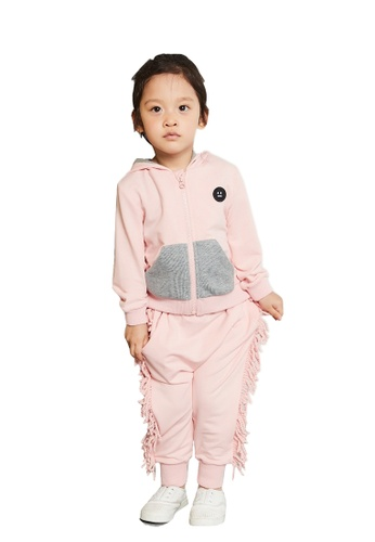 M.Latin pink Zip Sweatshirt and Sweatpants Set 6A919KA22A508FGS_1