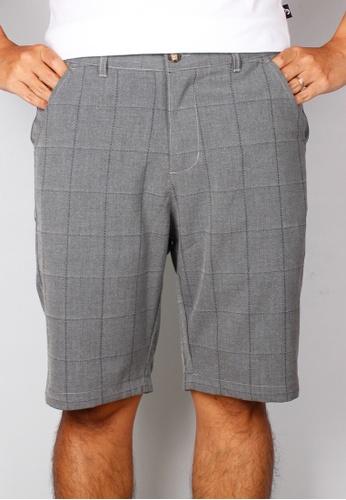 Moley grey Checkered Stitch Bermudas 15A05AABEC20BEGS_1