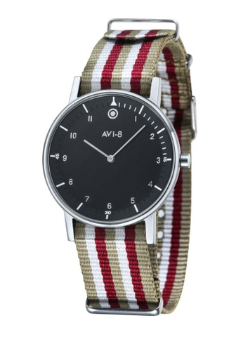 AVI-8 multi Flyboy Men's Nylon Nato Strap Watch AV642AC43JWQPH_1