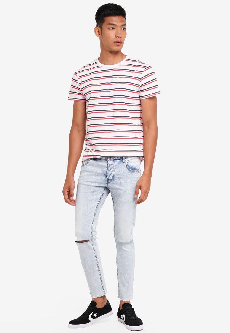 Nigel Navy Shirt Striped Solid Tomato Nautical T rvg1rq8wT