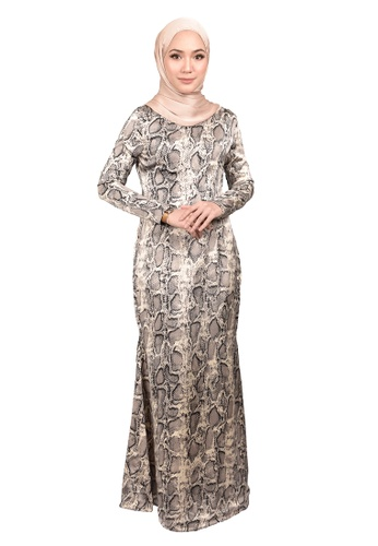 FATIMÉ grey and white Dress Snake (Grey) E10E7AAA5D4031GS_1