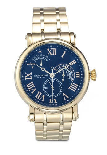 Akribos XXIV gold Retrograde Date Watch 2CC99ACDD89529GS_1