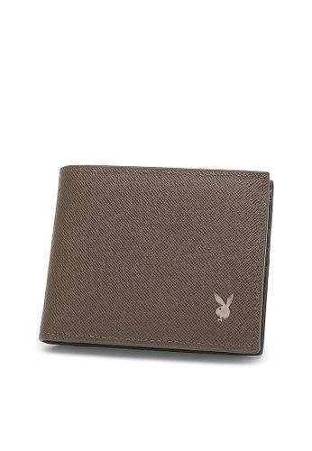 Playboy brown Playboy RFID Blocking Wallet 8F583AC2895507GS_1