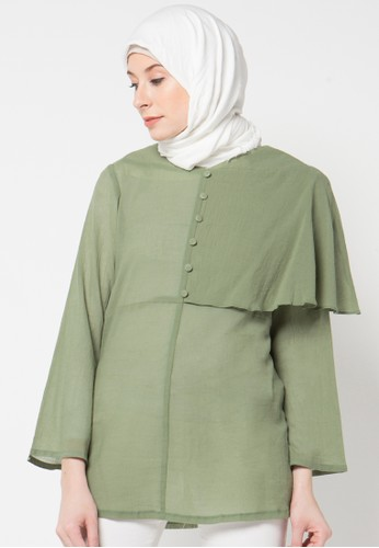 Aira Muslim Butik green Dania Blouse AI892AA29OZIID_1