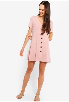 54a605244 35% OFF Something Borrowed Button Down Fit And Flare Dress HK  249.00 NOW  HK  161.90 Sizes XS S M L XL