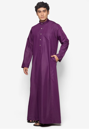 Amar Amran purple Jubah A Regular Fit AM362AA08OODMY_1