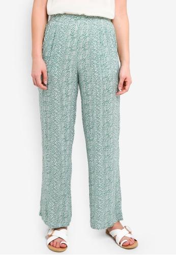 ICHI green Facova Pants 6458CAAE06D650GS_1